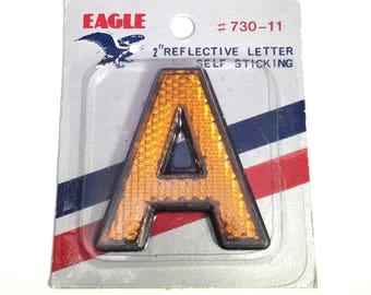 """Letter A VINTAGE 2"""" Reflective Letter """"A"""" Altered Art Assemblage Mixed Media Supplies Reflective Self Stick Eagle Letter A (L328)"""