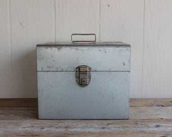 Vintage Industrial File Box