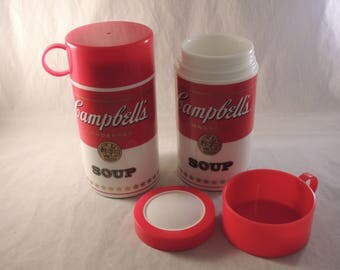 2 Campbell Soup Thermos