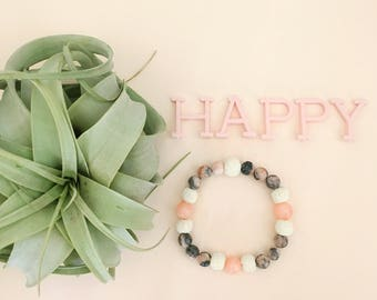 Happy Essential Oil Diffuser Bracelet Lava Bead Essential Oils Bracelet