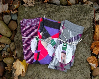 Sale - Purple Fall Collection of Leg Warmers - Baby Toddler Girl Boy - Set of Three Pairs - Purple Leg Warmers