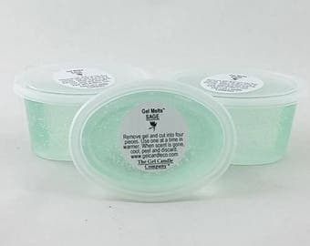 3 Sage Scented Gel Melts™ for tart warmers & burners hand poured by The Gel Candle Co.™ Peel, Melt Enjoy The Aroma FREE SHIPPING