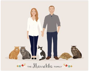 Family Portrait, add on pet