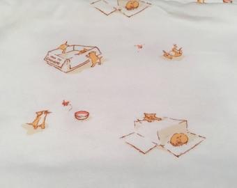 "Heather Ross Munki Munki kittens 19""x18"