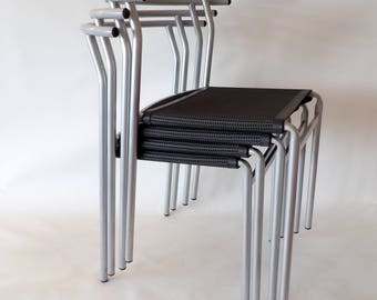 Philippe Starck for Cerruti Baleri Italia PS 210 stackable café chairs. Top condition.