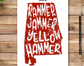 Distressed State - Rammer Jammer Yellow Hammer