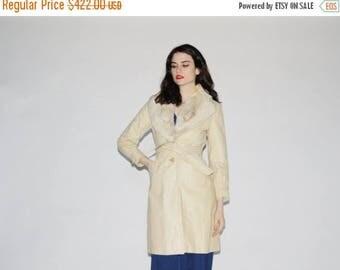 50% Off SALE - Vintage 1960s Leather and Fur Coat - Vintage 60s Fur  Coats - Leather Princess Coat - WO0177