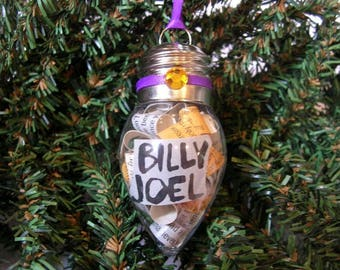 Billy Joel Christmas Ornament - Album Liner Notes In Plastic Bulb