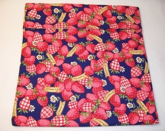 Handmade Microwave Potato Bag,Strawberry Print,Gifts,Bake Potato Bag,Kitchen and Dining,Bake Potato Bag