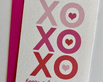 XOXO , Personalized valentines, Class Valentines, kids stationery, personalized stationery, kid valentines, fill in valentine