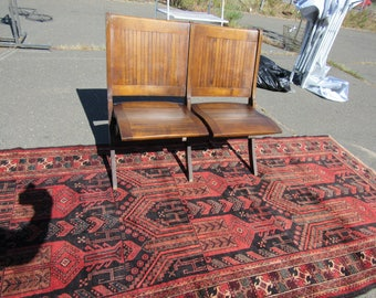 Antique double folding chair