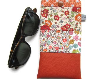 Liberty patchwork glasses case, pouch