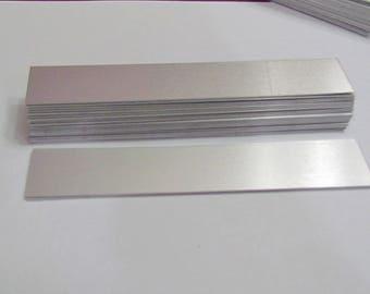 1 x 6 - 20G - Bracelet blanks - 1100 aluminum - bracelet supplies - bracelet strips - cuff blanks - metal blanks for bracelets