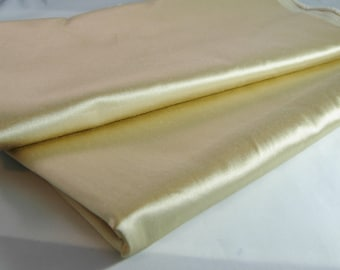 Gold Silky Polyester Fabric, 2 Pieces, Approx, 6 Yards In All