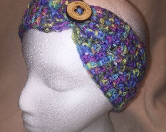 Ear Warmer With Button Accent