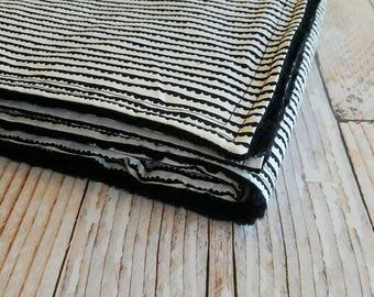 Baby Blanket - Minky Baby Blanket - Black Baby Blanket - White Baby Blanket - Baby Shower Gift - Scallop Baby Blanket - Monochromatic Baby