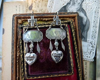 SALE:  Antique French Nun Earrings, Unique Handcrafted Talisman's for the Passionate, offered by RusticGypsyCreations