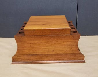 Vintage Pipe Stand with a Large Humidor