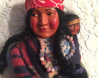 Indian doll..skookum bully, mother and papoose