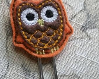 Owl Feltie Bookmark / Felt Paper Clip