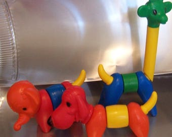 vintage zoo-it-yourself tupperware toys