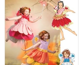 Sewing Pattern-McCall's 6813-Baby/Toddler Fairy Dress and Wings Size 2 to 5 Out of Print