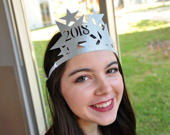 New Years Eve Hats 2018 in Silver.  Handcrafted in 2-5 Business Days.  New Years Eve Favors.  Sets of 4 or More.