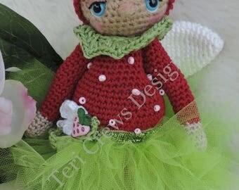 Summer Sale Cute Berry Fairy Doll Amigurumi by Teri Crews Designs