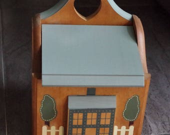Vintage Wooden House Shaped Recipe Box Full of Betty Crocker Recipe Card Library Recipes