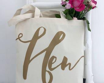Hen | Hen Bag | Bachelorette Party Bags | Hen Party Bag | Hen Gift