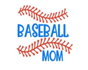 Baseball Mom Vinyl Decal Sticker