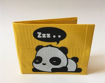 Sleepy Panda Duct Tape Wallet