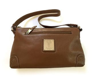 Tignanello Brown Leather Shoulder Bag Purse