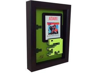 Atari 2600 Game Art Atari ET Extra Terrestrial Print Video Game Art Video Game Print 3D Art ET Art ET Movie Poster Atari 2600 Poster Print