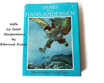 Hans Anderson Fairy Tales/ Edmund Dulac Illustrations/ Large Hardcover Book / Old Vintage Children's Book/ 1979