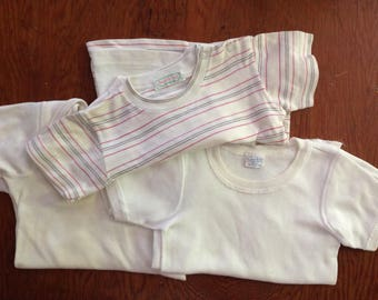 6 40's COTTON Vintage T SHIRTS KIDS Todlers Tykes Carters Healthtex Size 2-4