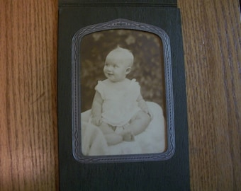 Three Antique Baby Photos w/Cardboard frames, One vintage baby photo, by Nanas Vintage Shop on Etsy