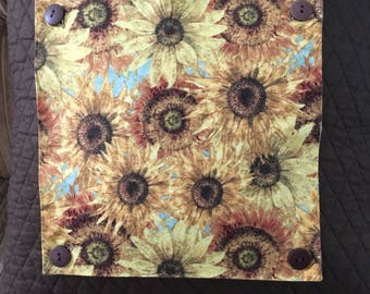 Accent Panels for Pillows and Placemats Sunflowers