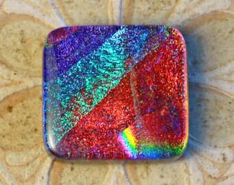 Dichroic Glass Cabochon. C-205