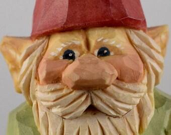 gnome, elf, lutin, Christmas, Santa, wood carving, Nordic, Scandinavian