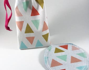 Menstrual Cup Bag, Menstrual Cup Pouch, Menstrual Cup Holder Triangles