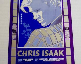 """Fillmore Poster Chris Isaak 1994 NM Poster 13"""" x 19"""" San Francisco Pearl Harbor"""