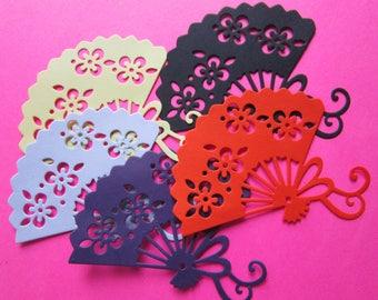 Asian Paper DieCutEmbellishment Fans 5