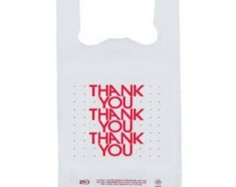 Thank You T-Shirt Bags 100 Count