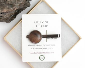 Old Vine Grapevine Tie Clip - Made from retired Napa grapevines!