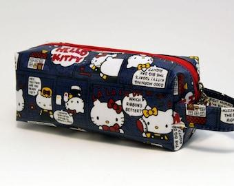 Waterproof Pencil Bag - Hello Kitty (w/ side carrying strap)