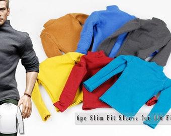 mcs0141 6 pc THE VOGUE Fashion Sleeve Set for 1/6 Figure Homme FR Ken (Blue,Brown,Burgundy,Yellow,Light Blue,Grey)