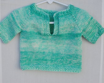 Baby Boy or Girl 6 Month Light Weight Homemade Knitted Sweater
