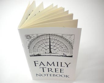 2 Family Tree Notebooks Print Edition, gifts for baby, men, women, grandparents, in-laws, for genealogy notes, chart ancestry keep-1-give-1