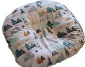 boppy lounger cover- mountain minky  cover-mountains minky boppy lounger cover-all minky cover-